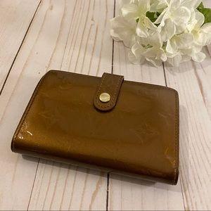 Louis Vuitton Vernis brown French kisslock wallet
